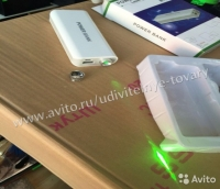 Внешний аккумулятор 8000 mAh с мощным лазером