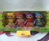 Кукла с раноцветными волосами 4 в 1
