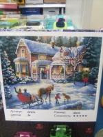 Алмазная мозаика Зимний Дом